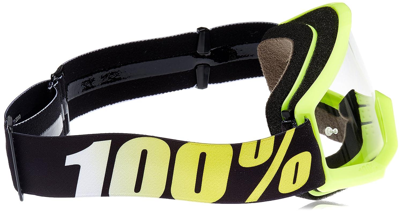 100/% Kids Cross Gafas The Strata Neon Yellow/ /Transparente