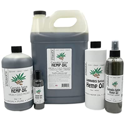 Hemp Oil-Cannabis Oil, Organic 100% Pure Hemp Oil, Pure Therapeutic Grade (16 Ounce)