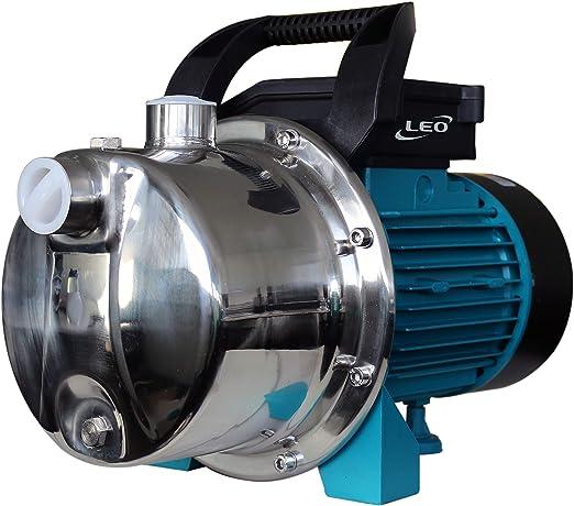 LEO XKJ-904S - Bomba de jardín (autocebante, con protección térmica, Carcasa de Acero Inoxidable, también para Uso en Agua doméstica): Amazon.es: Jardín