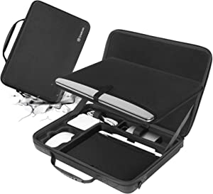 Smatree Hard Shell Carrying Case for 15.4 MacBook pro/9.7 inch Apple iPad, MacBook Pro 15.4 Sleeve, 15 inch MacBook Pro Bag, MacBook Pro 15 inch Case A1990, Laptop and Table Bag.