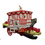 Roman Candy Holiday Ornament New Orleans Christmas with Free Sheer Gold Drawstring Pouch / Bag