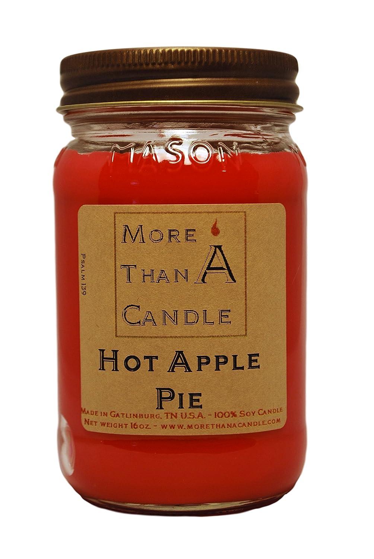 【当店限定販売】 More A Than A Candle Hot HAP16M 16 oz Mason Jar Jar Soy Candle, Hot Apple Pie B079QDWCD3, 【在庫処分】:45e99551 --- egreensolutions.ca