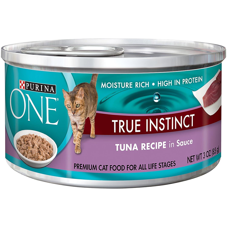 Purina ONE True Instinct In Sauce Wet Cat Food - (24) 3 oz.Cans