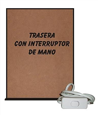 CCRETROILUMINADOS Portaretratos Iluminados, Metacrilato, Negro, 15x5.3x20 cm: Amazon.es: Hogar
