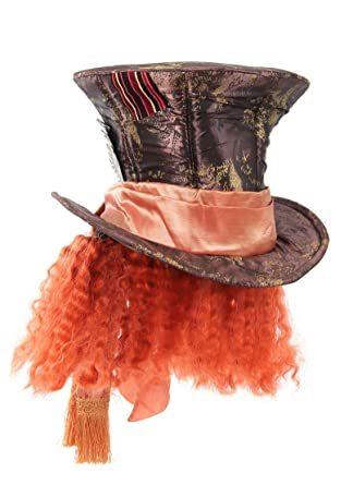 9f360032a14 Alice In Wonderland Mad Hatter Hat with Hair Costume Accessory  Apparel