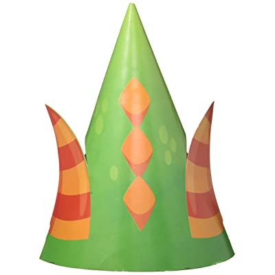 8-Count Child-Sized Party Hats with Cutouts, Dragons: Kitchen & Dining
