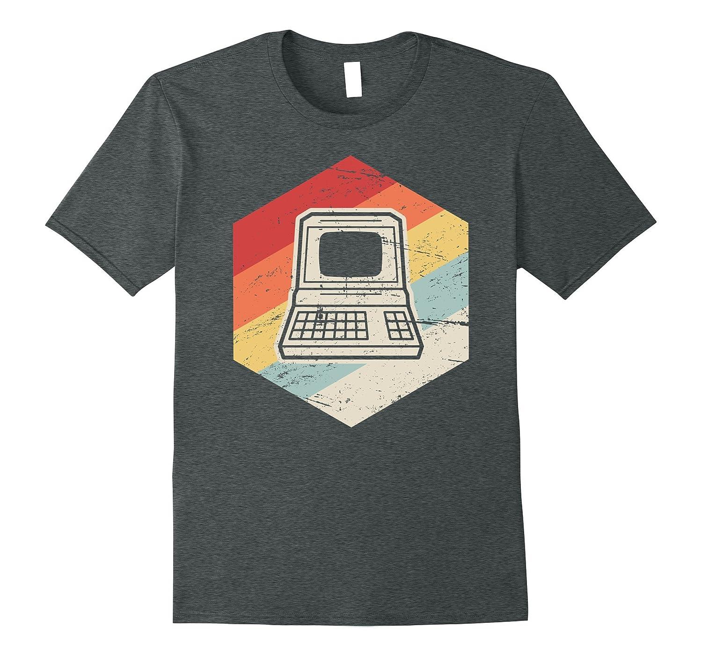 Retro Computer Nerd T Shirt Heather-Newstyleth