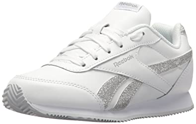 634fd35c269ff Reebok Baby Royal CL Jogger 2 Sneaker White Silver Sparkle 1 M US Toddler