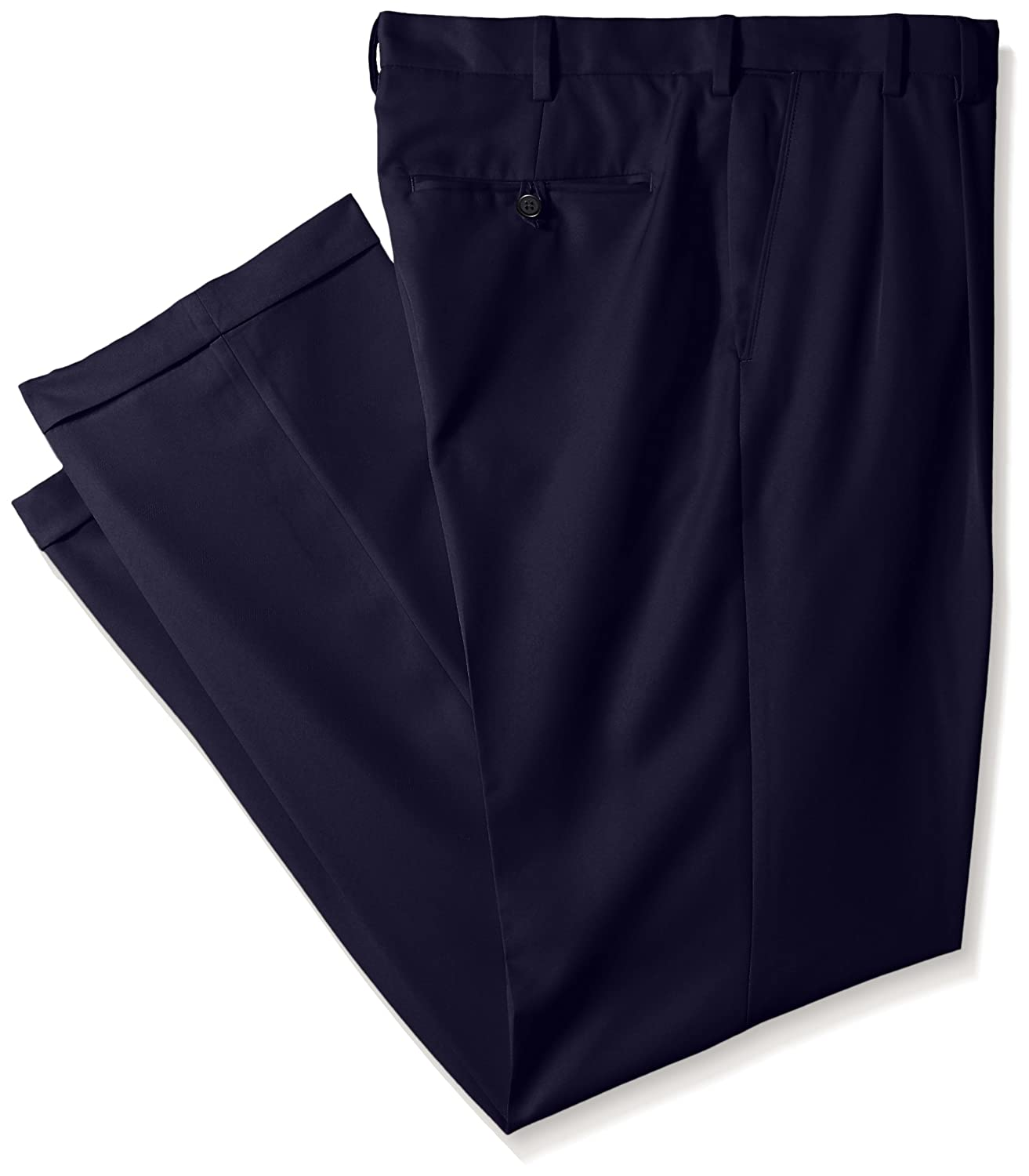IZOD Mens Big and Tall Double Pleated Solid Twill Pant