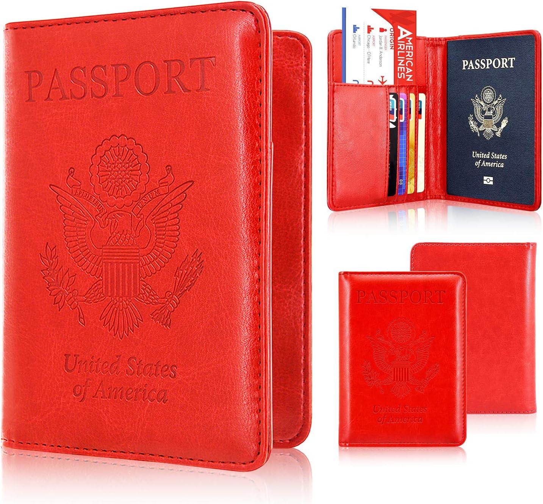 Titular del pasaporte caso, ACdream Protector Premium funda de piel RFID – Cartera para pasaporte, gris: Amazon.es: Hogar