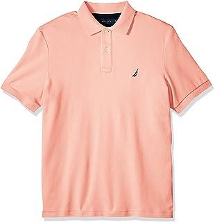 Nautica Men\u0027s Classic Fit Short Sleeve Solid Soft Cotton Polo Shirt