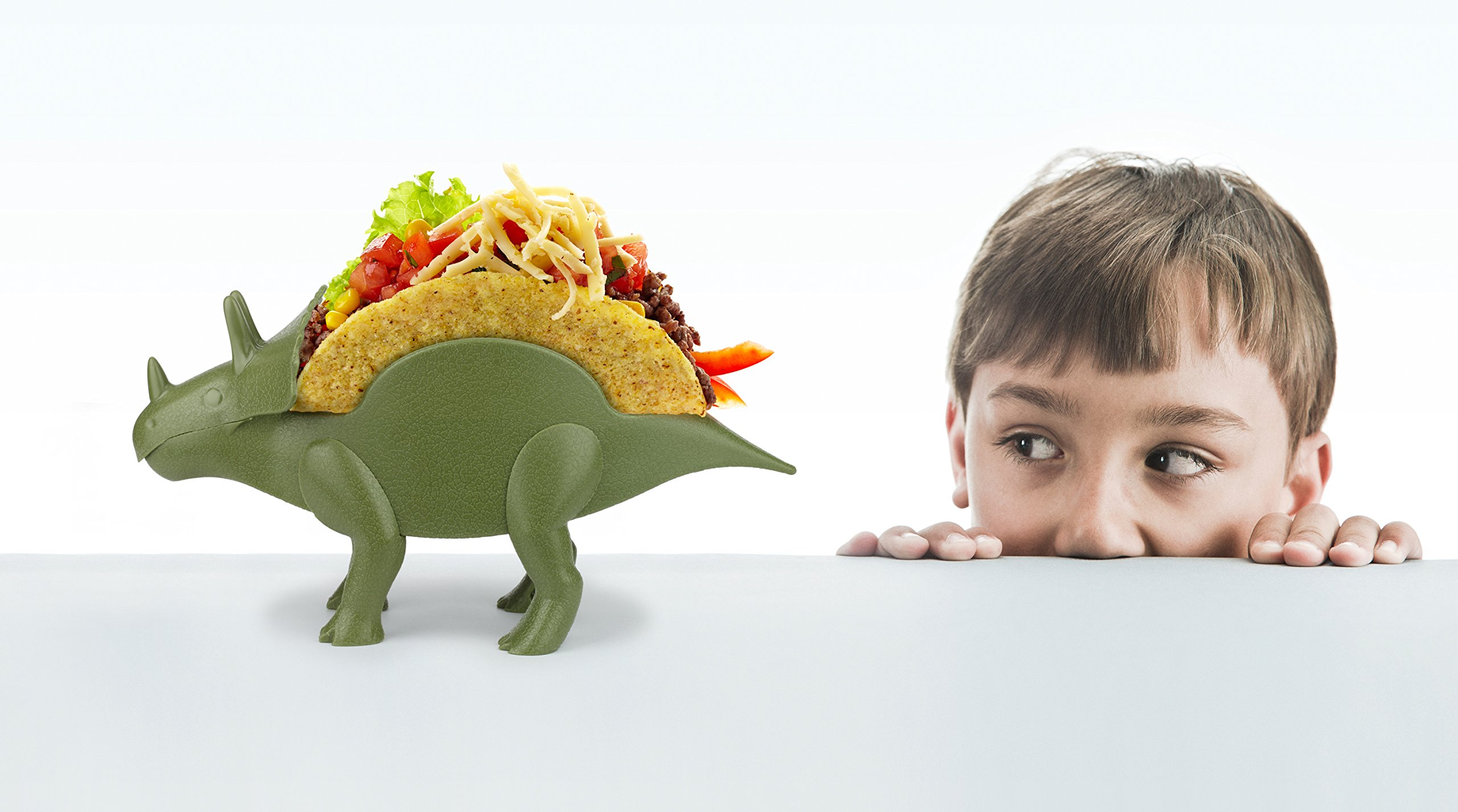 KidsFunwares TriceraTACO Taco Holder - The Ultimate Prehistoric Taco Stand for Jurassic Taco Tuesdays and Dinosaur Parties - Holds 2 Tacos - The Perfect Gift for Kids and Kidults that Love Dinosaurs by KidsFunwares (Image #15)