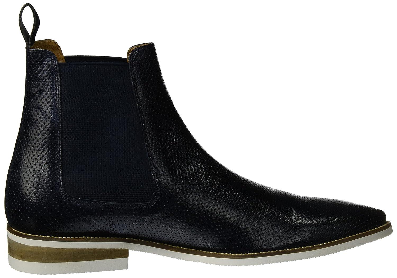 MELVIN & HAMILTON MH HAND MADE SHOES OF CLASS Herren Blau Daniel 7 Chelsea Boots Blau Herren (Venice Perfo Navy Ela. Navy Modica White) 0bf031