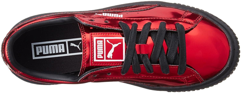 Puma Damen Schuhe Schuhe Damen   Turnschuhe Basket Platform Metallic 3c748f