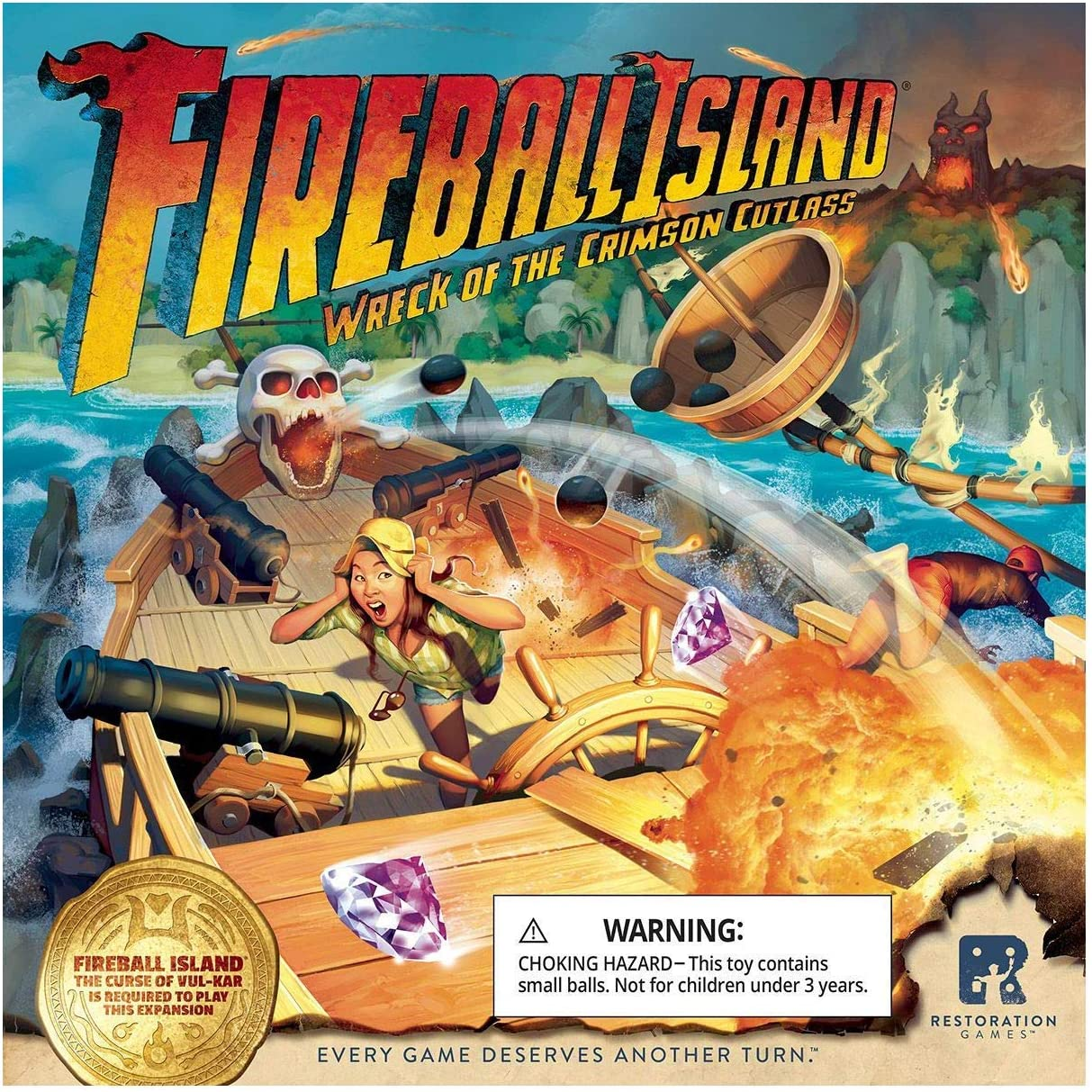 RESTORATION GAMES Fireball Island: Wreck of The Crimson Cutlass ...