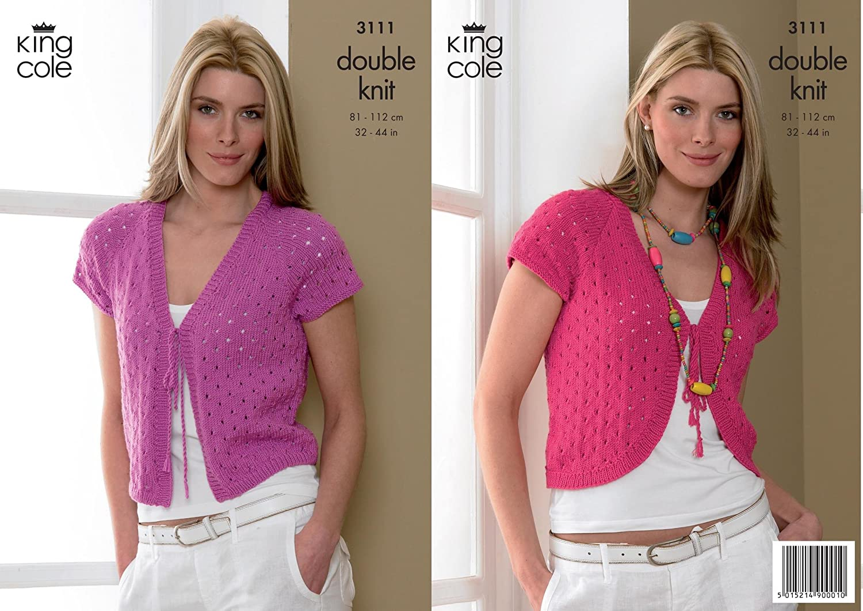 King Cole Ladies Cardigan & Bolero Smooth DK Knitting Pattern 3111 ...