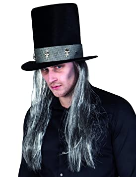 Generique - Sombrero de Copa gótico con Pelo Adulto Halloween  Amazon.es   Juguetes y juegos a153ae0f968