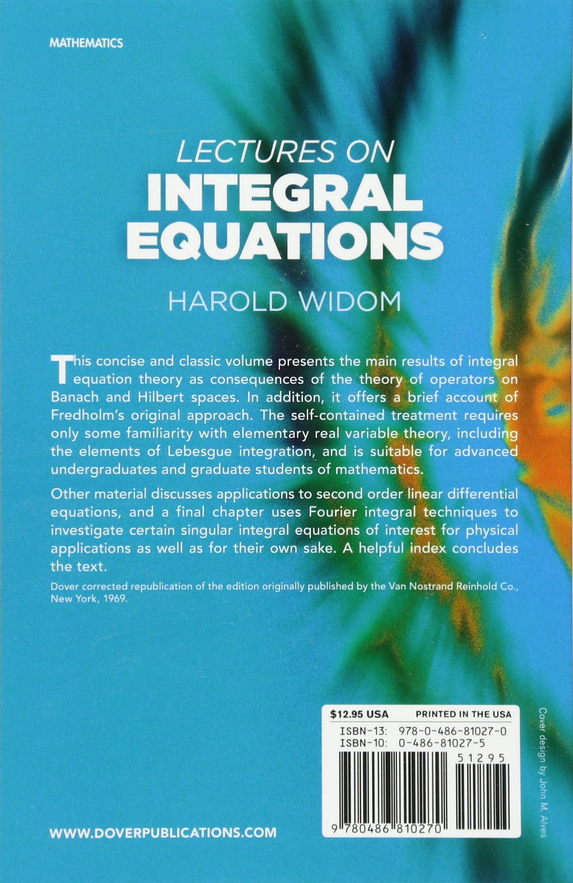 Lectures on integral equations dover books on mathematics harold lectures on integral equations dover books on mathematics harold widom 0800759810277 amazon books fandeluxe Image collections