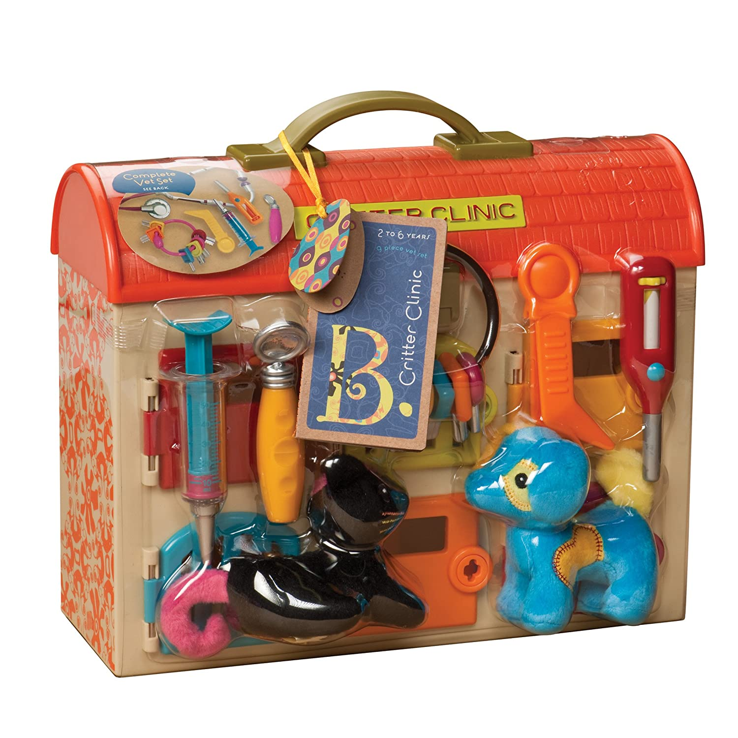 Amazon B Critter Clinic Toy Vet Play Set Toys & Games
