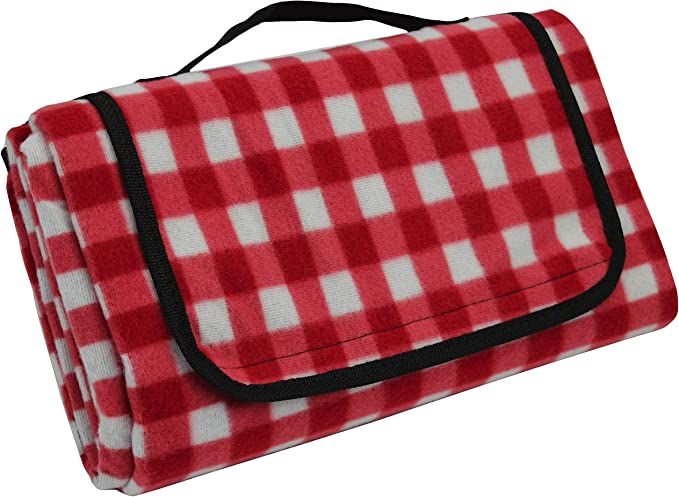 Roebury Picnic Blanket /& Beach Blanket Large Oversized Water-Resistant Sandproof Mat for Outdoor Travel or Camping Rug Folds into a compact Tote Bag