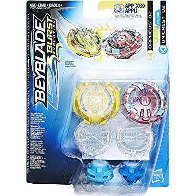 Beyblade Burst Evolution Dual Pack Orpheus and Unicrest U2: Toys & Games