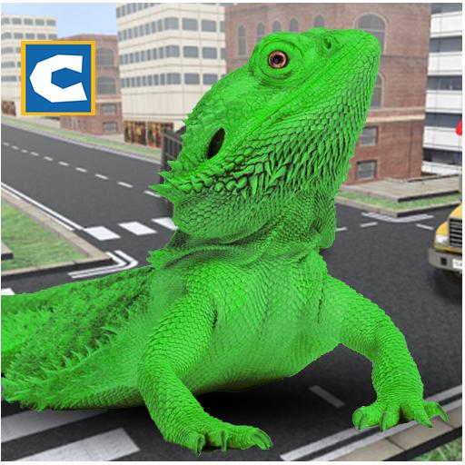 Monster Lizard Simulator: City Battle - Free Lizard