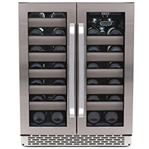 Whynter BWR-401DS 40 Bottle Dual Zone Built Wine Refrigerators-Elite Series with Seamless Stainless Steel Doors