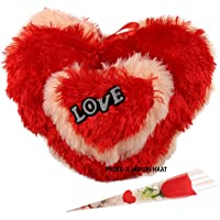 Jaipuri Haat Valentine Gifts Heart Shaped Love Roses ( 30@22 CM)