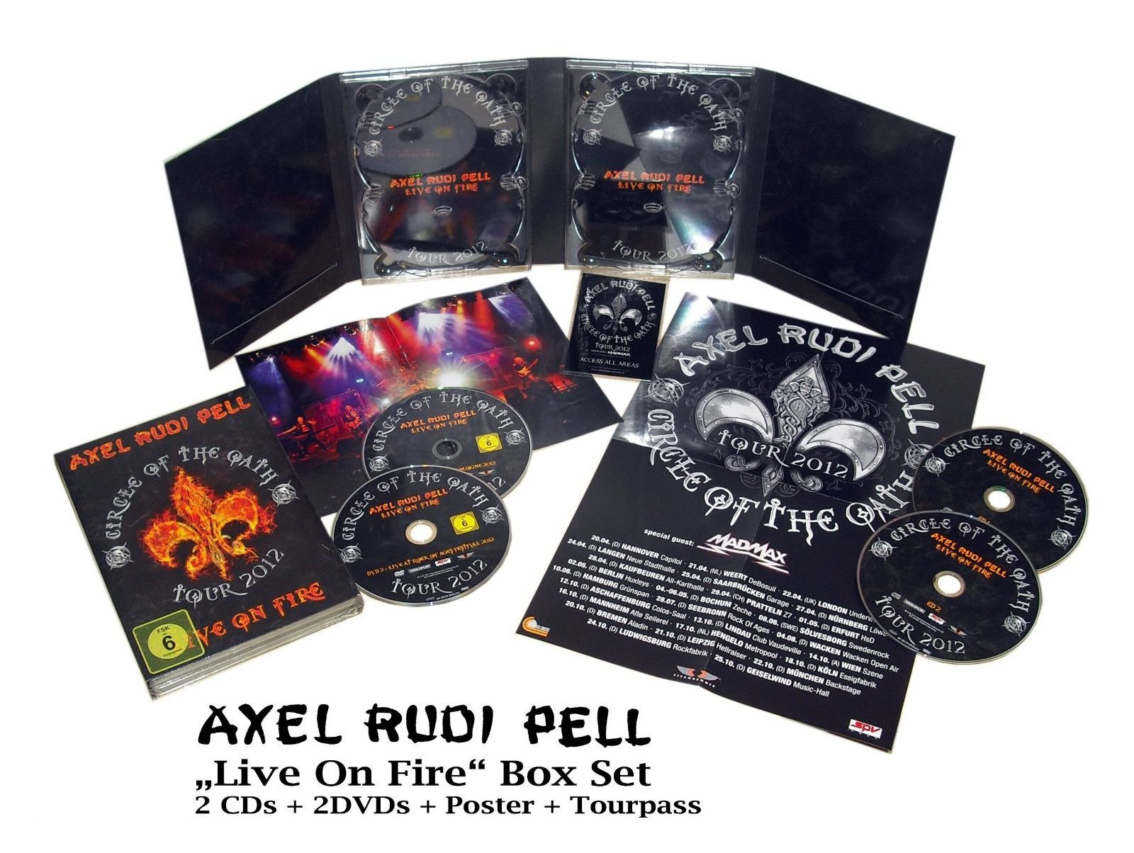 DVD : Axel Rudi Pell - Live On Fire (Boxed Set 4 Disc)