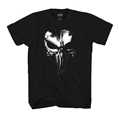 da722f506 Amazon.com: Marvel The Punisher Dirty Skull T-Shirt (XXXL, Dirty Skull):  Clothing