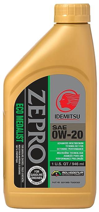 ZEPRO 30010095-75000C020 Eco Medalist Advanced Moly 0W-20 Engine Oil - 1 Quart