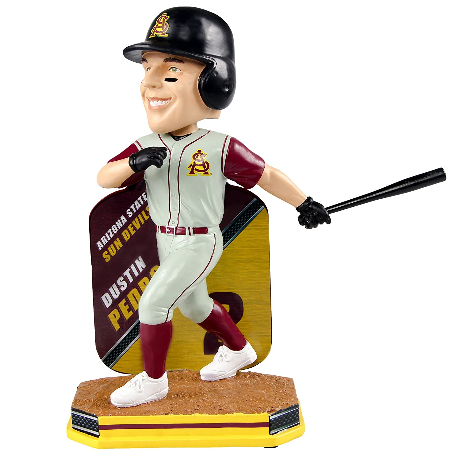 Dustin Pedroia Arizona State Sun Devils Limited Edition大学野球Name and Number Bobblehead B077RS8NNK