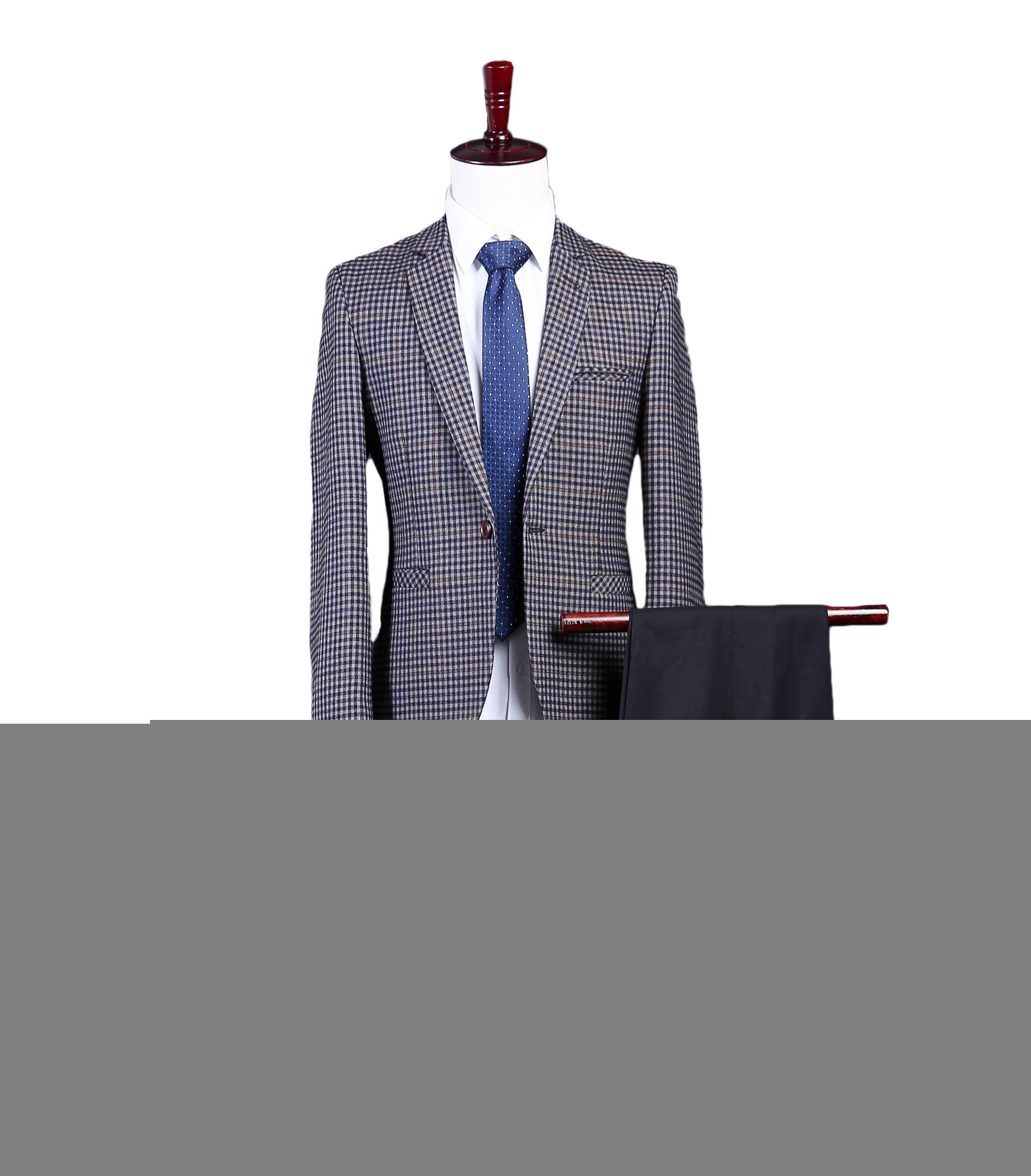 Love Dress Men's Modern Fit 2-Piece Suit Blazer Jacket Tux & Trousers 5XL