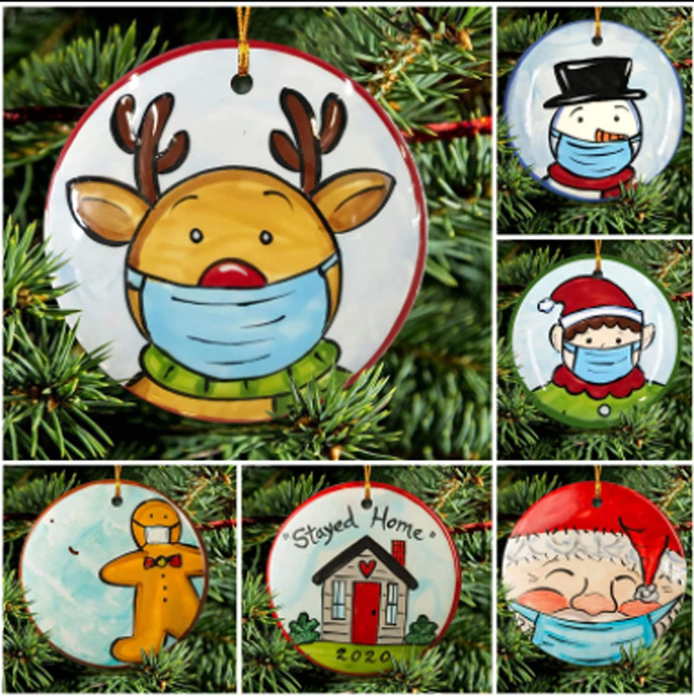 Ornament-Covid-19 Ornament Package-Customized Funny 2020 Quarantine Christmas Ornament