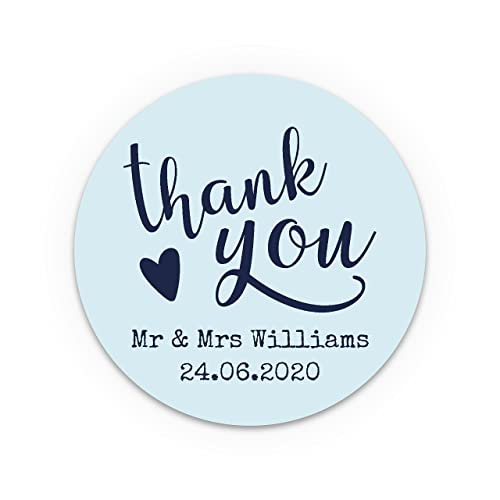 Personalised wedding thank you stickers wedding favour labels personalised with your information choose