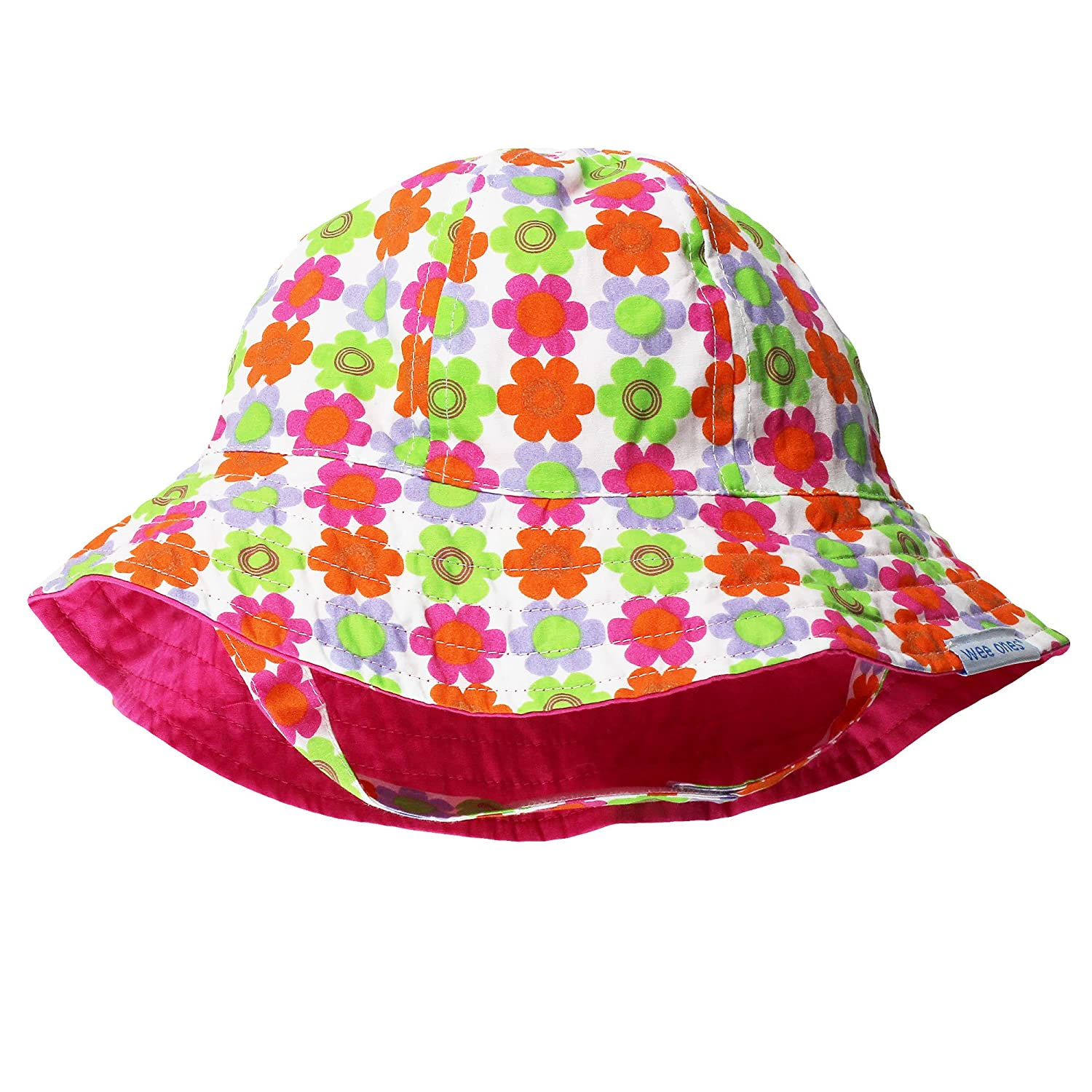 Wee Ones Reversible 2-in-1 Baby Sun Hats Baby and Infant Girls
