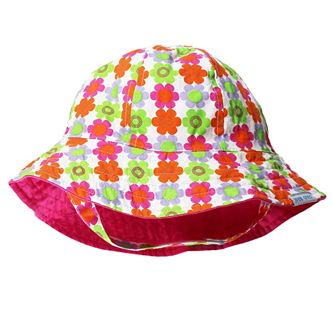 Amazon.com  Wee Ones Flower Baby Sun Hat (Reverses to Hot Pink) 18 ... 2c94443304e