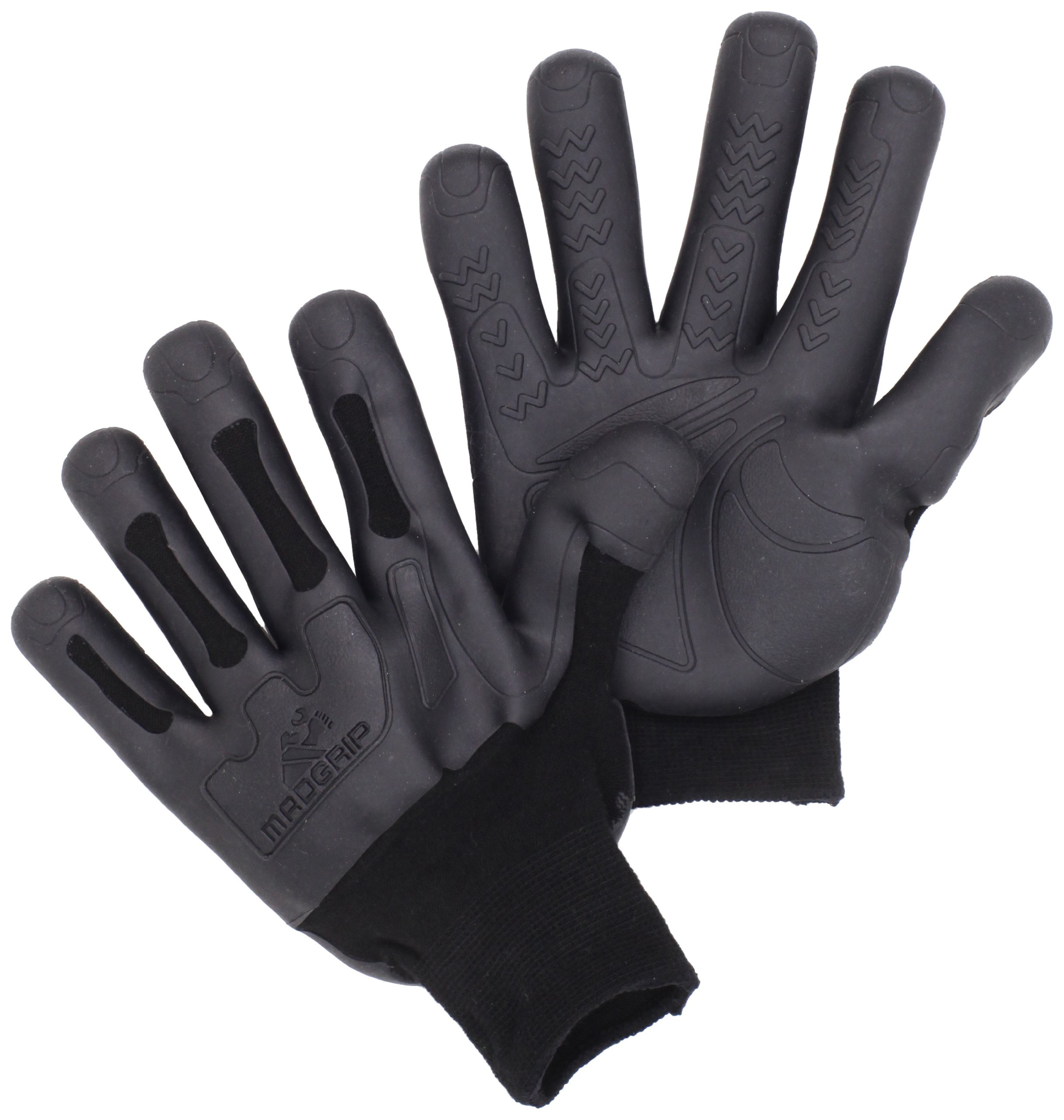 Mad Grip Pro Palm Knuckler Glove 100,Black/Black,Small/Medium by Mad Grip