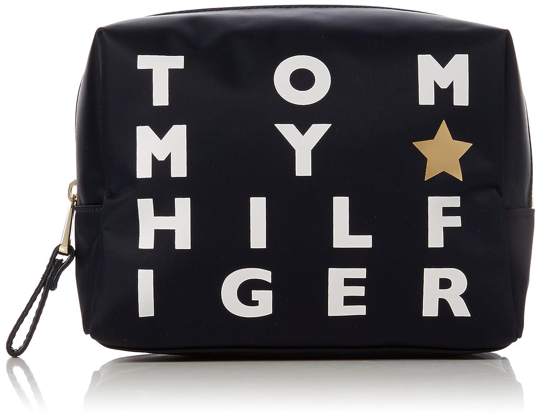 Tommy Hilfiger - Poppy Wash Bag Logo Print, Carteras de mano Mujer, Azul (Logo Print), 9.5x19.5x14 cm (B x H x T): Amazon.es: Zapatos y complementos