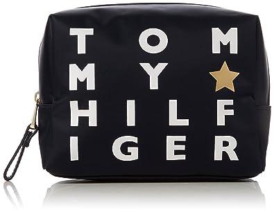 Tommy Hilfiger - Poppy Wash Bag Logo Print, Carteras de mano Mujer, Azul (