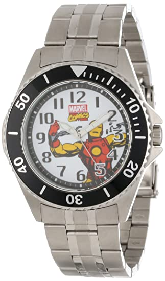 Marvel Comics Caballero W000525 Iron Man Honor Stainless Steel Bracelet Reloj