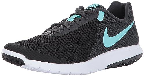 dea109275e3 Nike Women s WMNS Flex Experience Rn 6 Black Aurora Green Running Shoes-4 UK