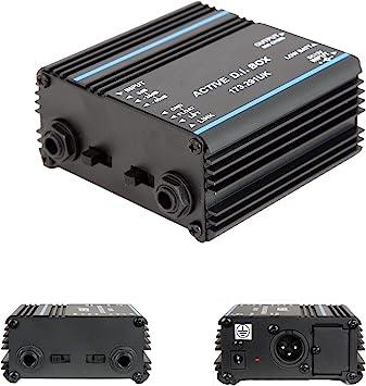 Activa di Caja – 6,35 mm 1/4 Entrada Salida XLR – Interfaz Directa/inyección Audio Link – cablefinder: Amazon.es: Electrónica