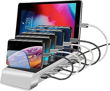 Kuyia - Base de Carga Universal con 6 Puertos USB para Tablet y ...