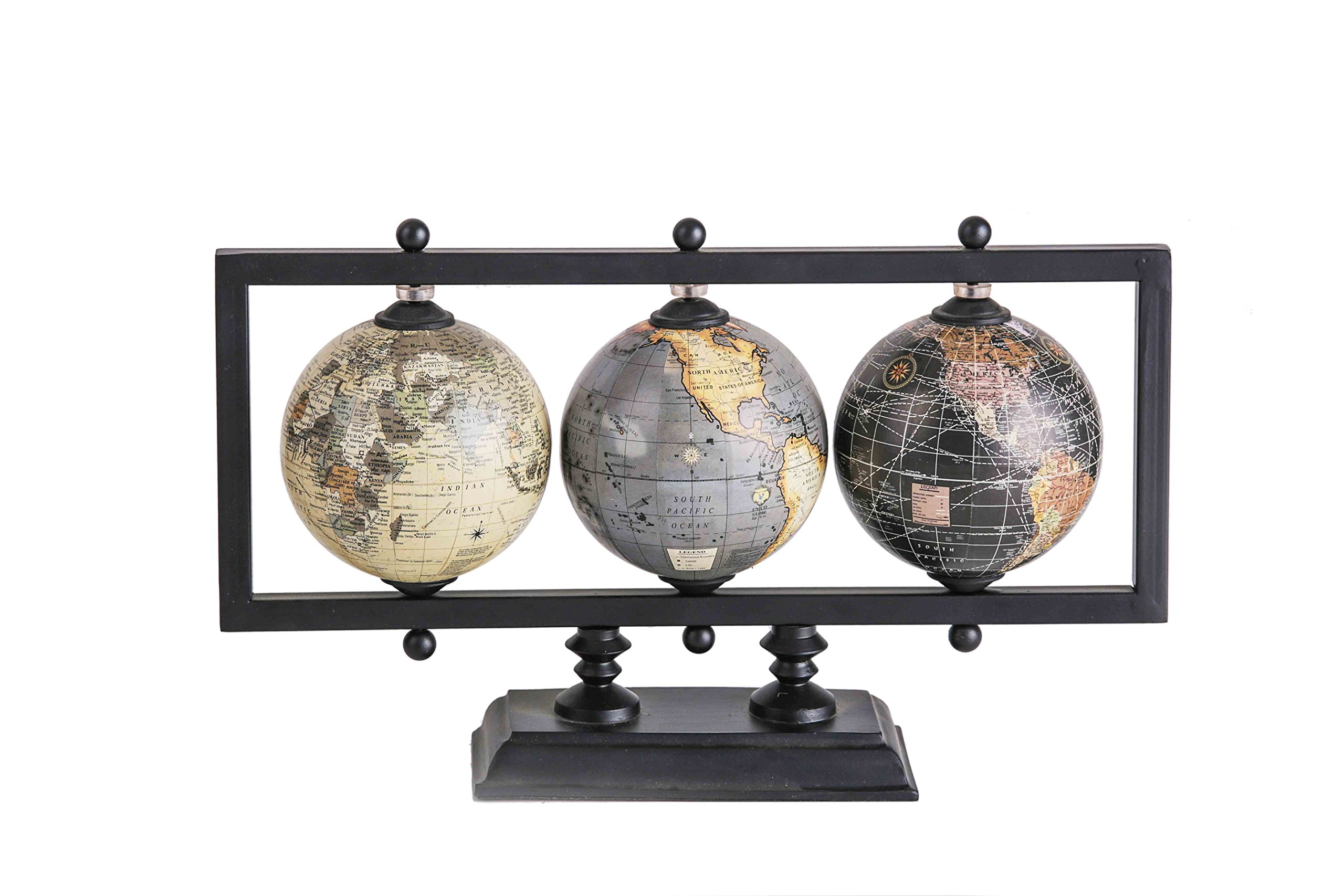 SAMMSARA Home Décor World Traveler Multi Globe Stand.4 Inches Diameter.Office Desk Decorative Items.Office Decor