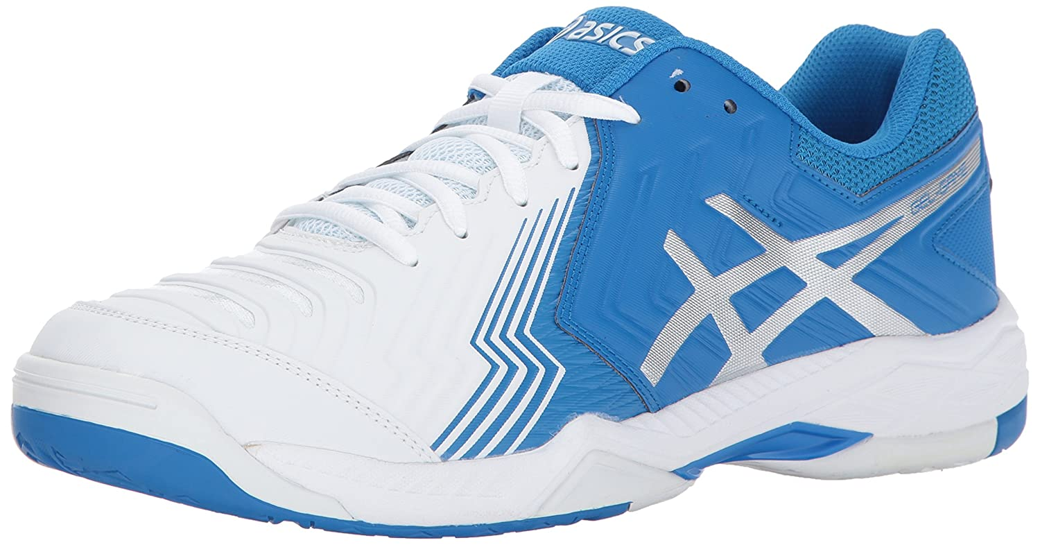 ASICS Men's Gel-Game 6 Tennis Shoe B01N7Y0YR9 11 D(M) US|White/Director Blue/Silver