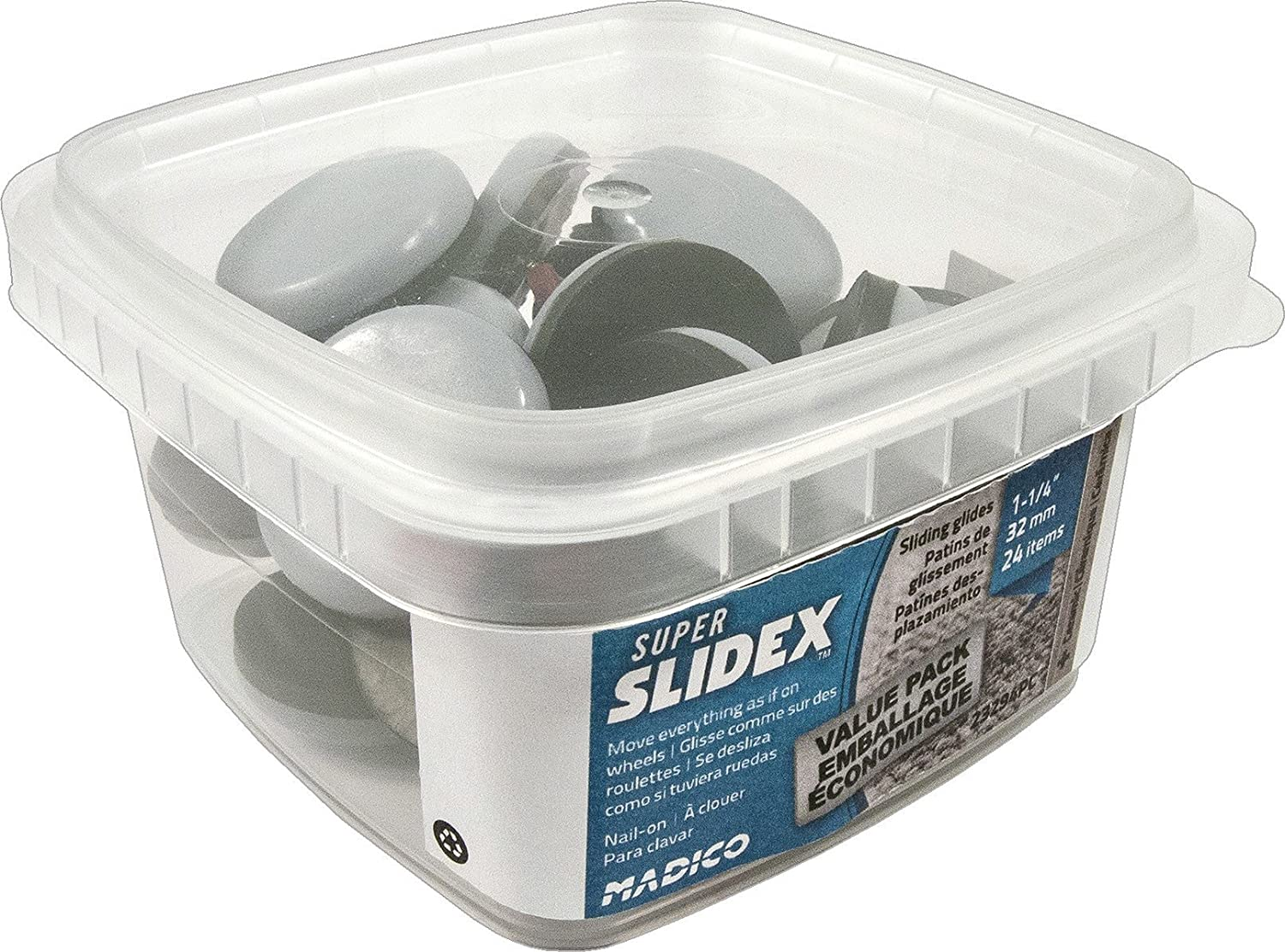 Richelieu Hardware - F31912PC - Box of 60 - Nail-On Glides with Cushioned Polypropylene Base - - Amazon.com