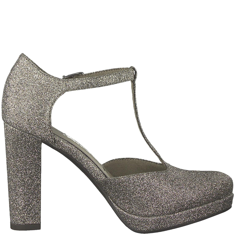 Tamaris die 1-1-24409-20 Damen Pumps, Slipper, Sommerschuhe für die Tamaris Modebewusste Frau Platinum Glam eea53b
