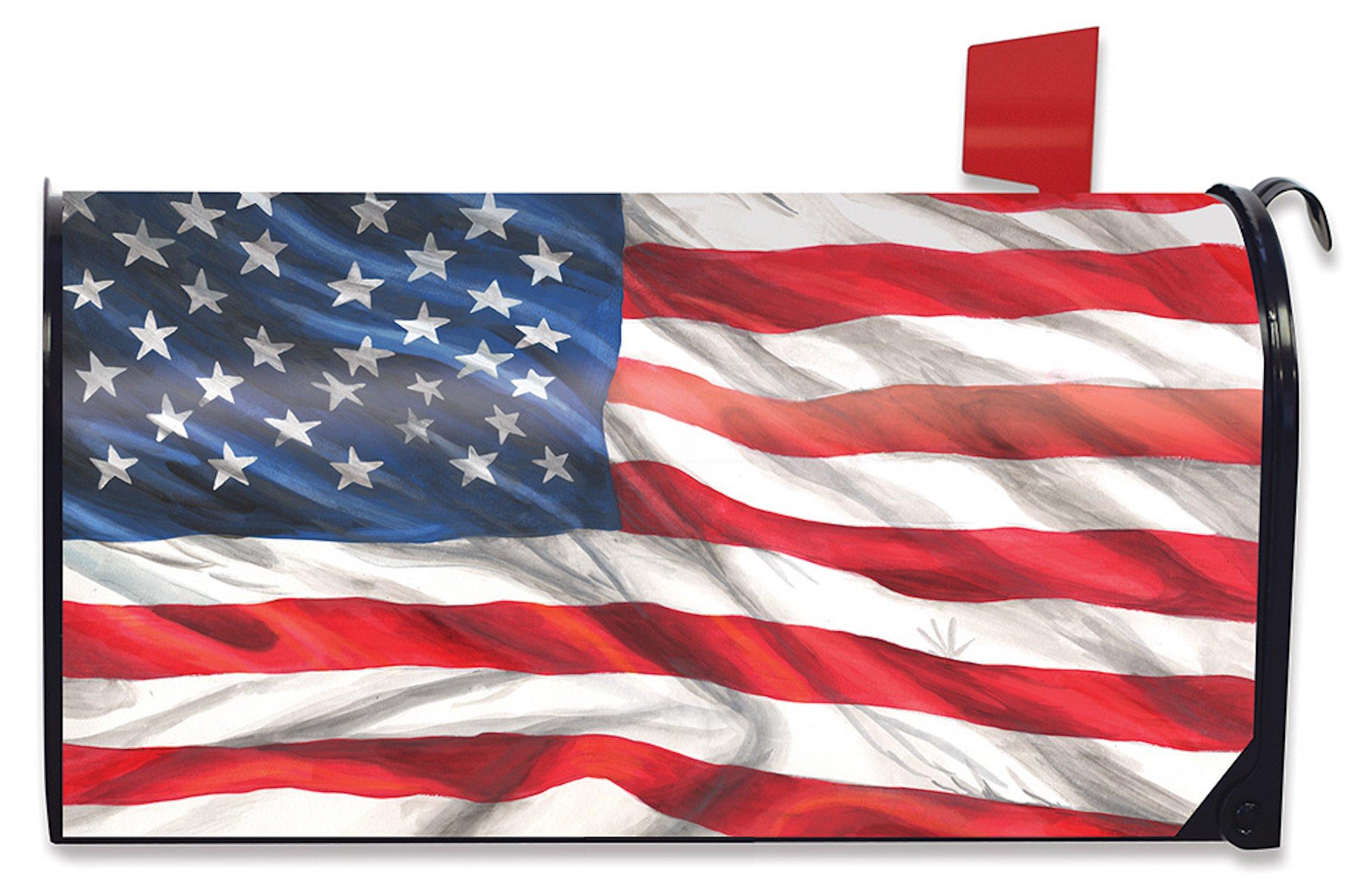 Briarwood Lane American Flag Waving Patriotic Magnetic Mailbox Cover Standard