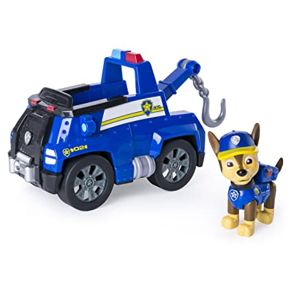 Amazon Com Paw Patrol Chase S Tow Truck Figure And Vehicle